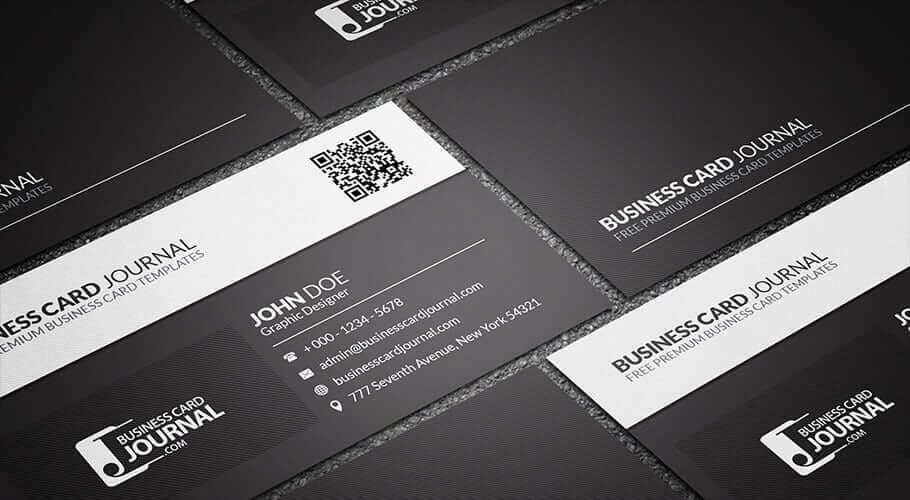 business cards black