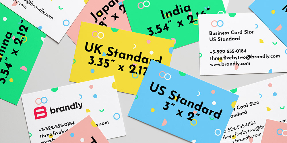 Standard Business Card Sizes (+ free templates)