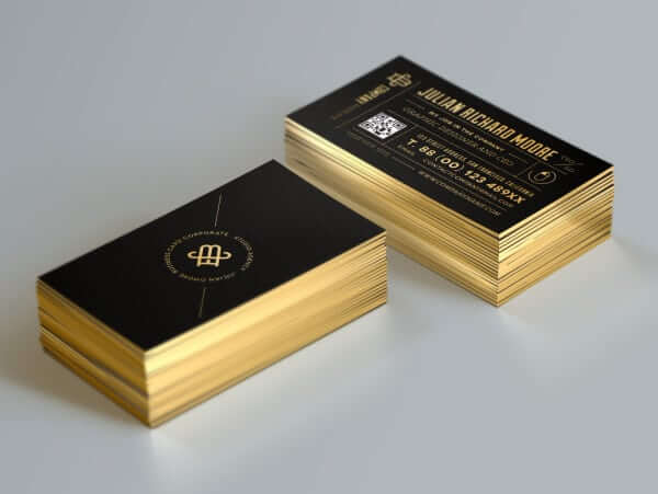 Business Cards gold edges
