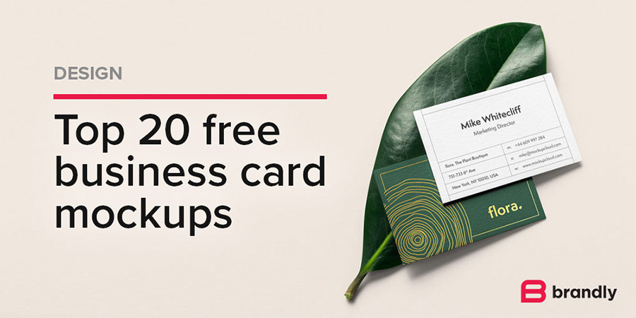 Top 20 FREE Business Card Mockups