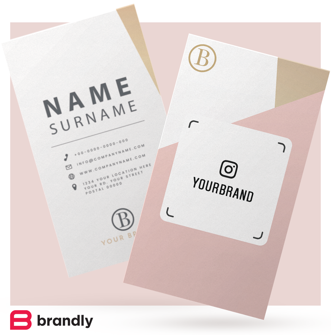 Instagram Nametags on business cards