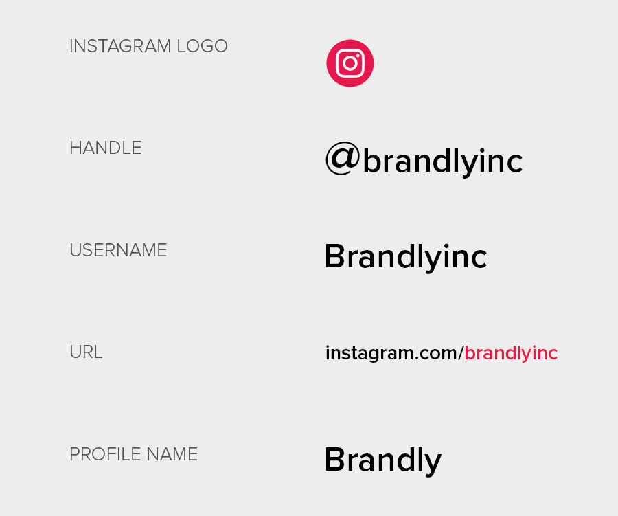 Instagram elements on business cards