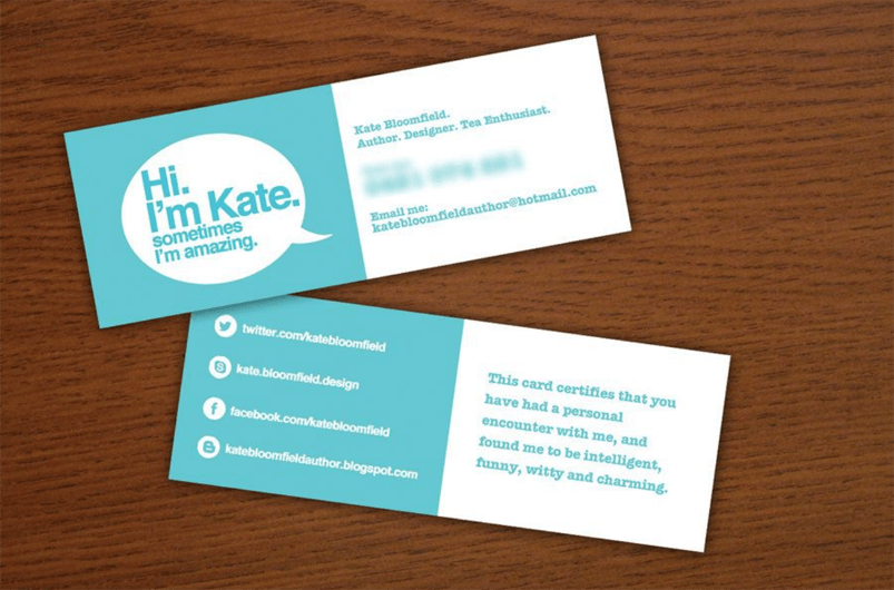 Social Media Icons On Business Cards