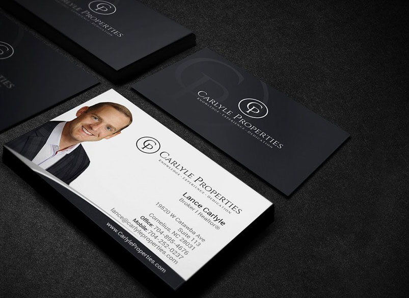 Realtor business card with headshot
