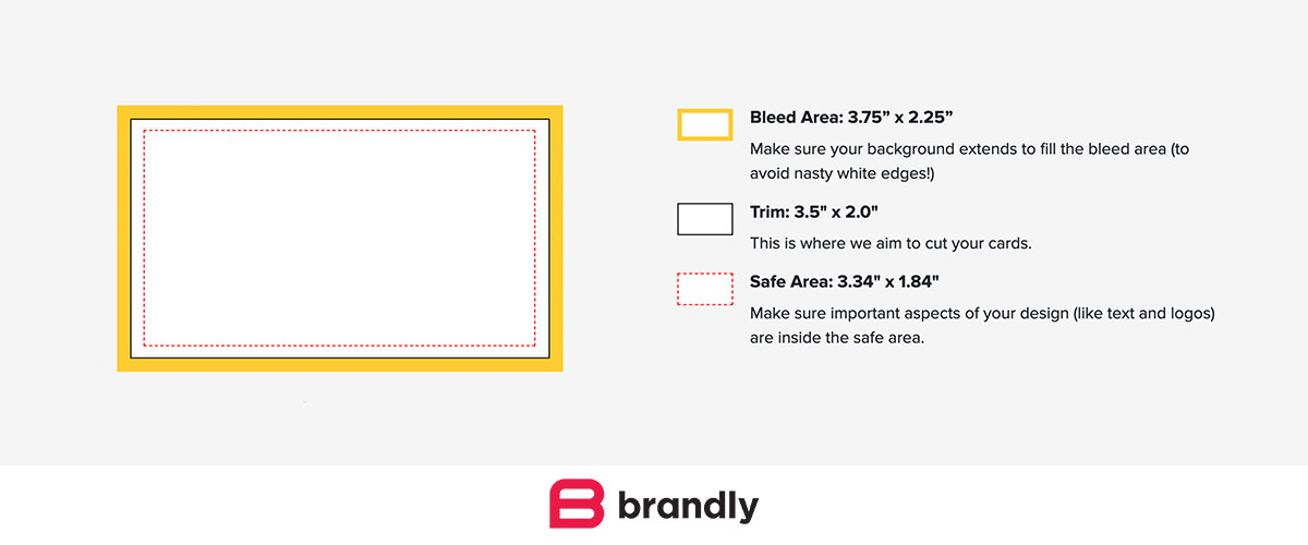 Standard Business Card Sizes Free Templates Brandly Blog